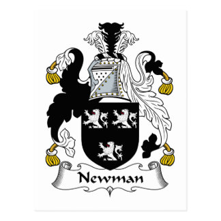Newman-Familienwappen Postkarte
