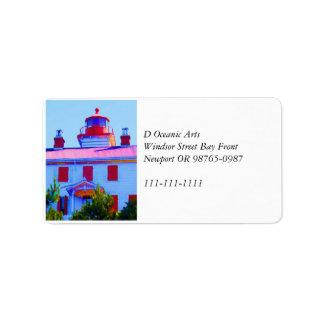 Newport-Leuchtturm Adressaufkleber