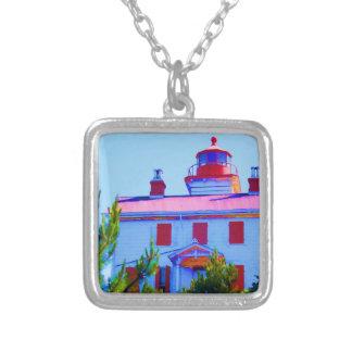 Newport-Leuchtturm an Yaquina Bucht Versilberte Kette