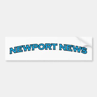 Newport-Nachrichten-Virginia gewölbtes Text-Logo Autoaufkleber