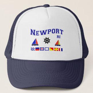 Newport-Signal-Flaggen Truckerkappe