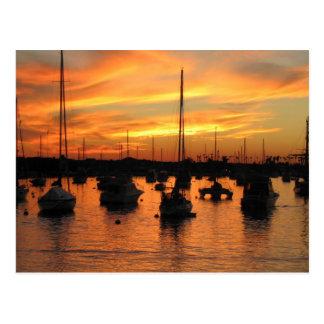 Newport-Sonnenuntergang Postkarte