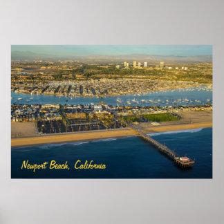 Newport-Strand-Kalifornien-Plakat Poster