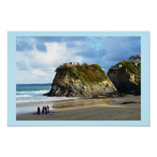 Newquay Strand in Cornwall Poster
