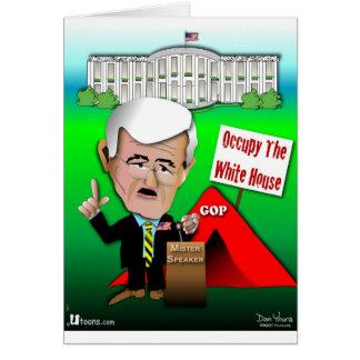 Newt bewohnen das Weiße Haus Karte