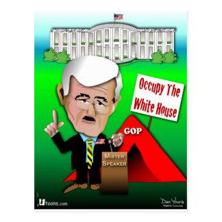 Newt bewohnen das Weiße Haus Postkarte