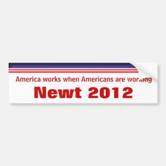 Newt Gingrich 2012 Autoaufkleber