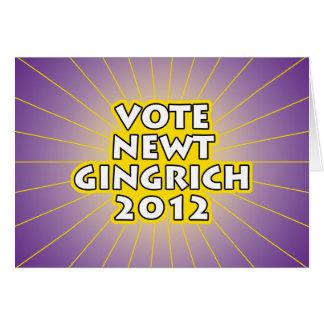 Newt Gingrich 2012 Karte