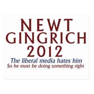 Newt Gingrich 2012 Postkarte