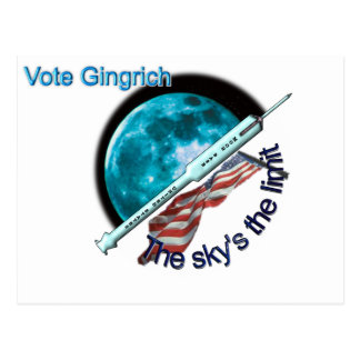 Newt Gingrich - die Grenze des Himmels Postkarte