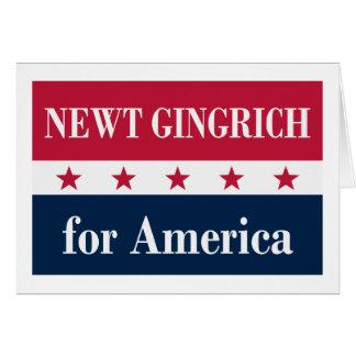 Newt Gingrich für Amerika Karte