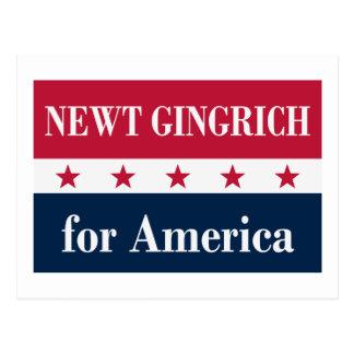 Newt Gingrich für Amerika Postkarte