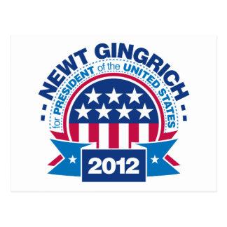 Newt Gingrich für Präsidenten 2012 Postkarte