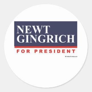 Newt Gingrich für Präsidenten (2) Runder Aufkleber