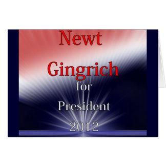 Newt Gingrich für Präsidenten Dulled Explosion Karte