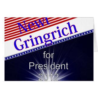 Newt Gingrich für Präsidenten Explosion Karte