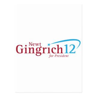 Newt Gingrich für Präsidenten Postkarte