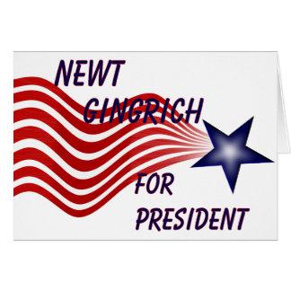 Newt Gingrich für Präsidenten Sternschnuppe Karte