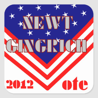 Newt Gingrich Quadratischer Aufkleber