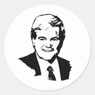 Newt Gingrich Runder Aufkleber