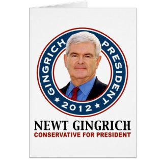Newt- Gingrichkonservativer für Präsidenten Karte