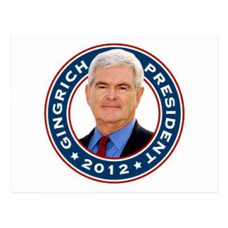 Newt- Gingrichkonservativer für Präsidenten Postkarte