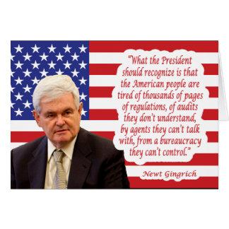 """Newt- Gingrichzitat: """"Die amerikanischen Leute… """" Karte"""