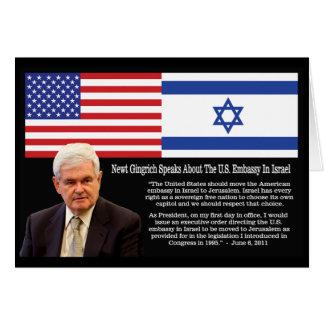 Newt- Gingrichzitat: Die US-Botschaft in Israel Karte