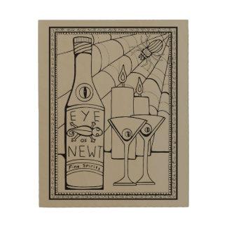 Newt-Martini-Linie Kunst-Entwurf Holzwanddeko