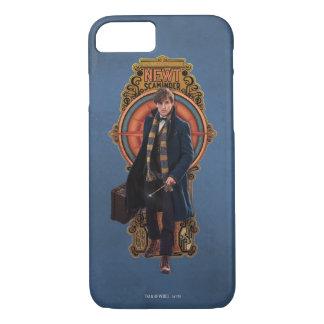 NEWT SCAMANDER™ gehende Kunst Nouveau Platte iPhone 8/7 Hülle