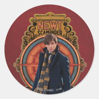 NEWT SCAMANDER™ stehende Kunst Nouveau Platte Runder Aufkleber