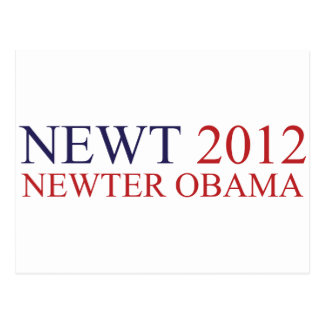 Newter Obama Postkarte