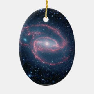 NGC 1097 aufgerollte Galaxie der Nacht Keramik Ornament