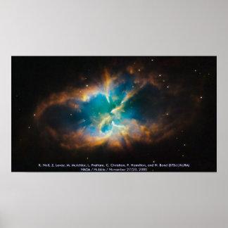 NGC 2818/planetarischer Nebelfleck Poster