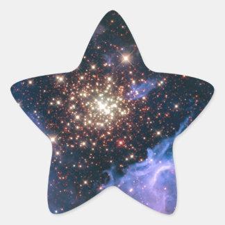 NGC 3603 die SuperSternhaufen NASA Stern-Aufkleber