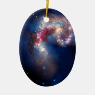 NGC 4038 die Antennen-Galaxien NASA Ovales Keramik Ornament