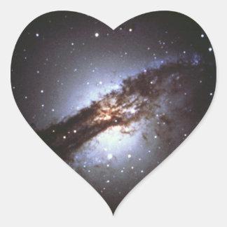 NGC 5128 Centaurus die Galaxie NASA Herz-Aufkleber