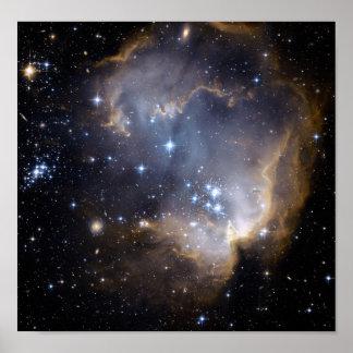 NGC 602 die helle Sterne NASA Poster