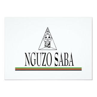 Nguzo Saba Kwanzaa Feiertags-Party Einladungen