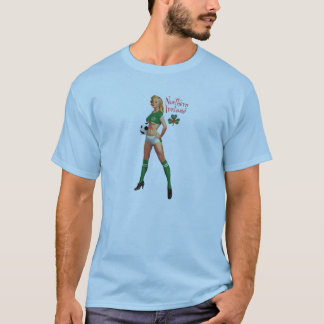 Ni Retro Button-Oben T-Shirt