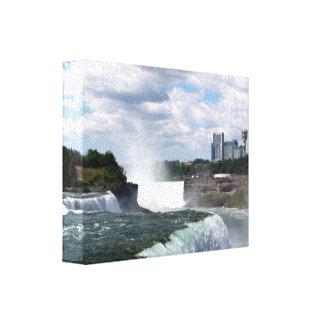 Niagara Falls: Amerikaner-u. Hufeisen-Fälle Leinwanddruck