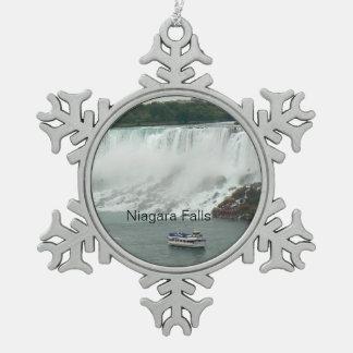 Niagara Falls auf der kanadischen Seite Schneeflocken Zinn-Ornament
