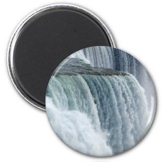 Niagara Falls - Nahaufnahme Runder Magnet 5,7 Cm
