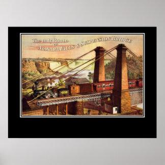 Niagara- Falls und Hängebrücke-Plakat Poster