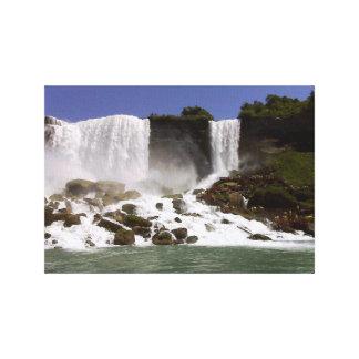 Niagara Falls - Wasser-Draufsicht Leinwanddruck