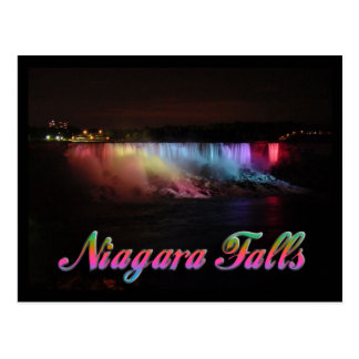 Niagara- Fallslichter nachts Postkarte