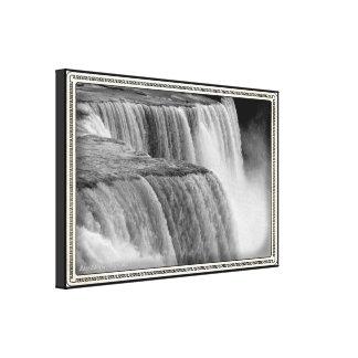 Niagara Fallsschwarzweiss-Kasten-Kamera-Effekt Leinwanddruck