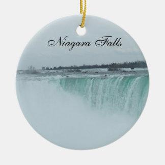 Niagara- Fallsverzierung Rundes Keramik Ornament