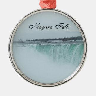 Niagara- Fallsverzierung Silbernes Ornament