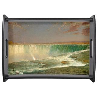 Niagara- Fallswasserfall-Fluss-Serviertablett Tablett